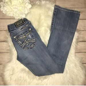Miss Me Distressed Embellished Boot Cut Jeans